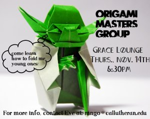 Origami Masters Group: Yoda Meeting