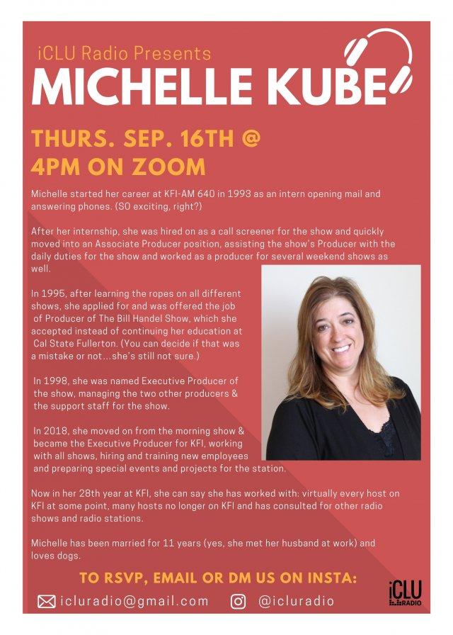 iCLU Presents Michelle Kube