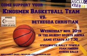 Club Lu: Kingsmen Basketball Team Support