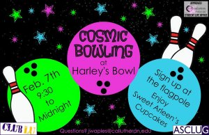 Sign Ups For Cosmic Bowling!