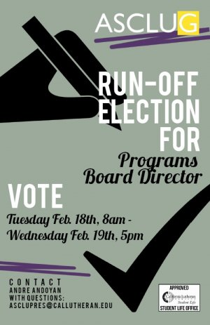 ASCLUG Runoff Election for Programs Board Director