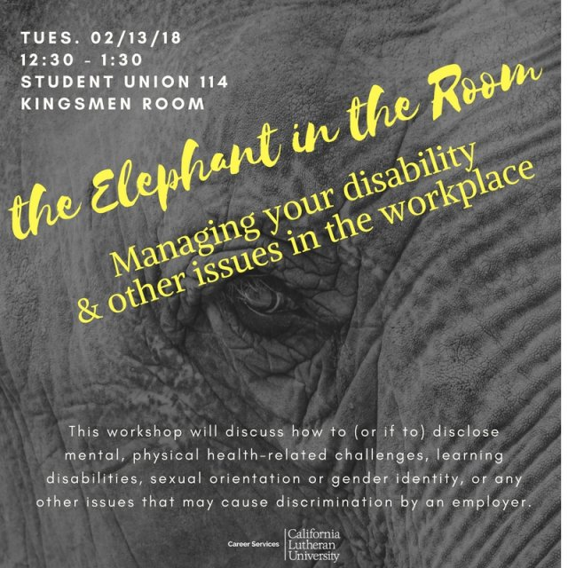 The Elephant in the Room: Managing your Disability and Other Issues in the Workplace