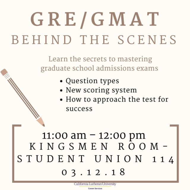 GRE/GMAT Behind the Scenes