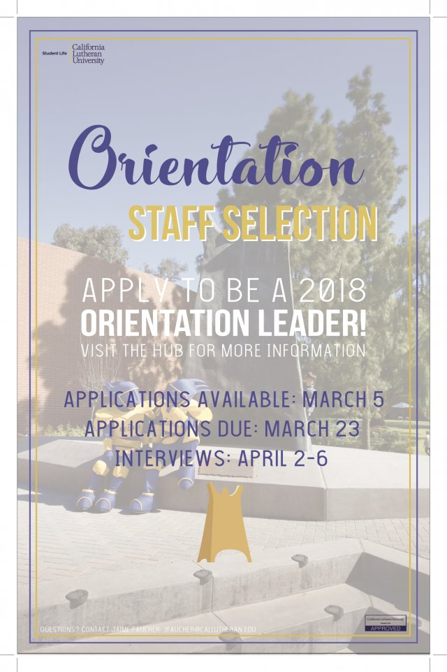 Orientation Staff Applications