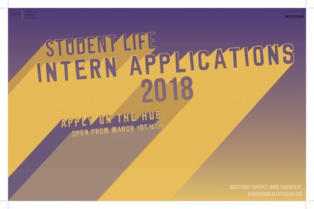 Student Life Intern Applications