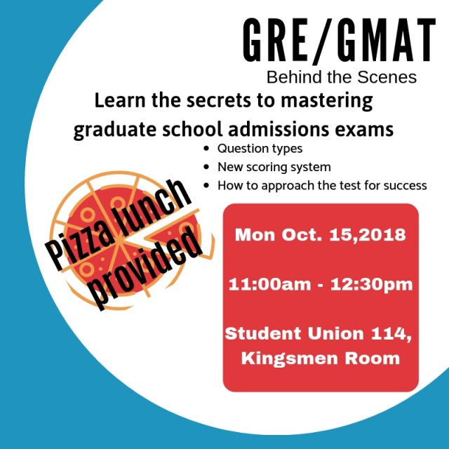 GRE/GMAT Behind the Scenes and Personal Statement Workshop