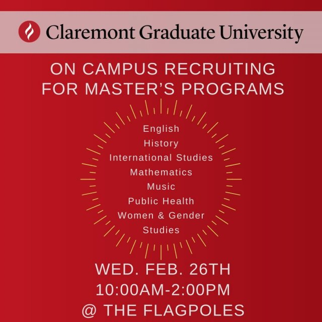 On campus recruiting: Claremont Graduate University