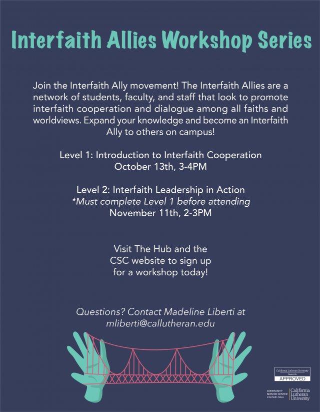 Interfaith Allies Workshop Level 1: Introduction to Interfaith Cooperation
