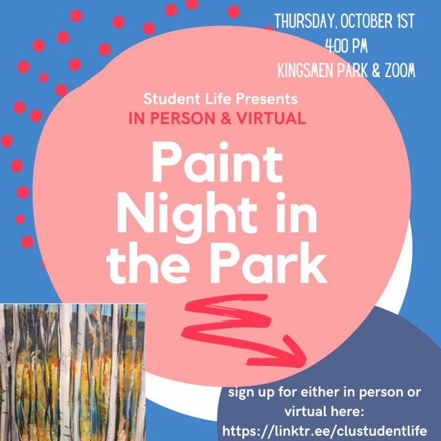 Paint Night in the Park (On Campus & Virtual)