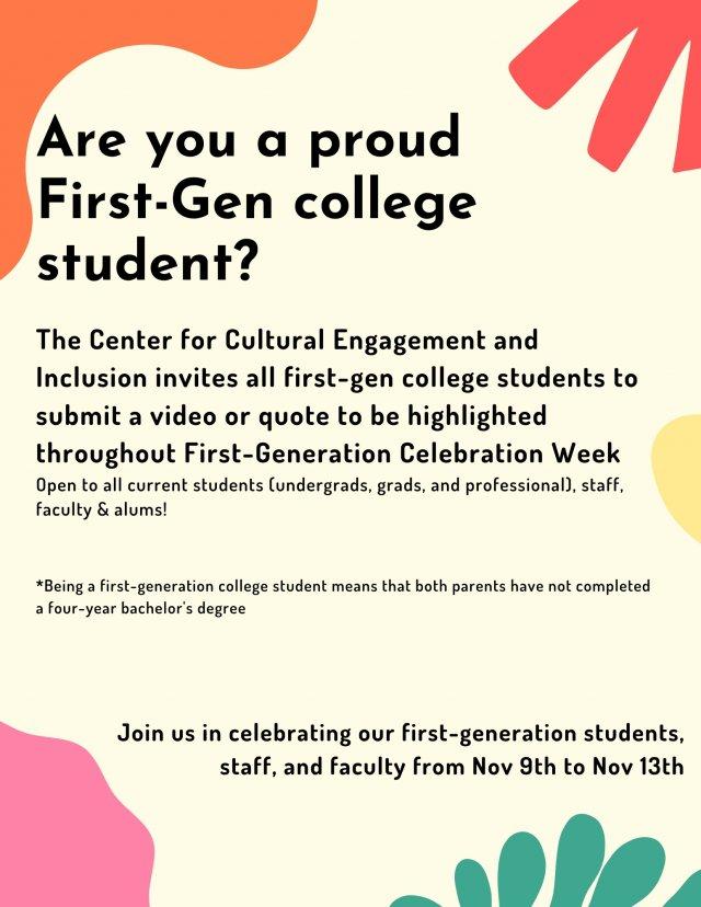First-Generation Celebration Week