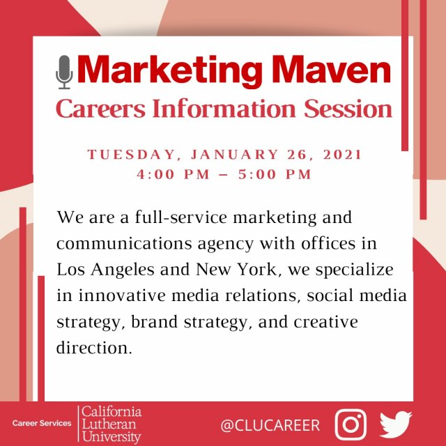 Marketing Maven: Careers Information Session