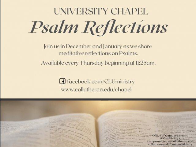 University Chapel Psalm Reflection
