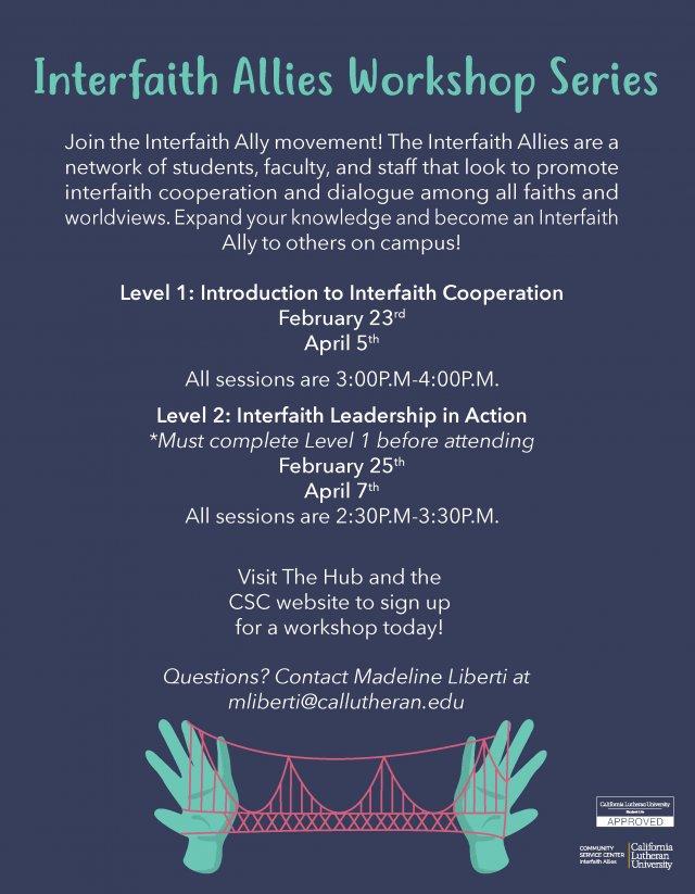 Interfaith Allies Workshop Level 2: Interfaith Leadership in Action