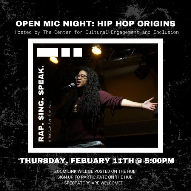 Open Mic Night: Hip Hop Origins