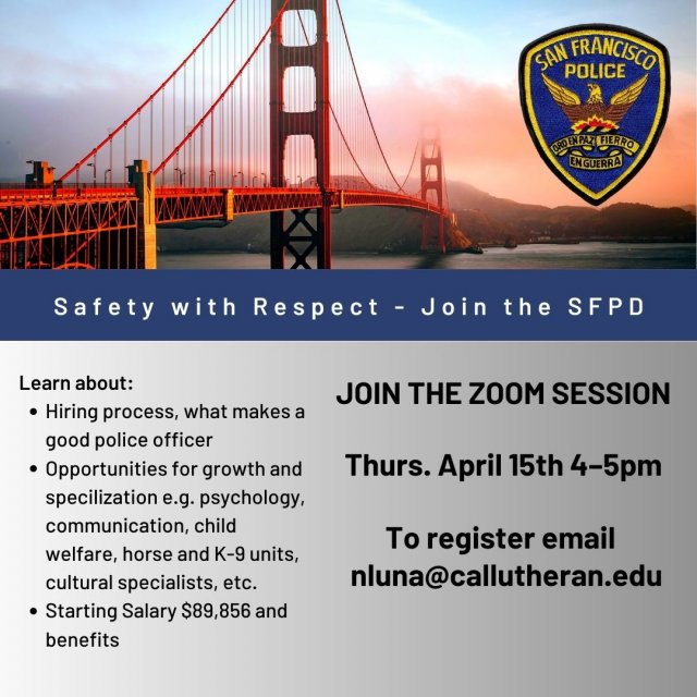 San Francisco Police Department - Information Session