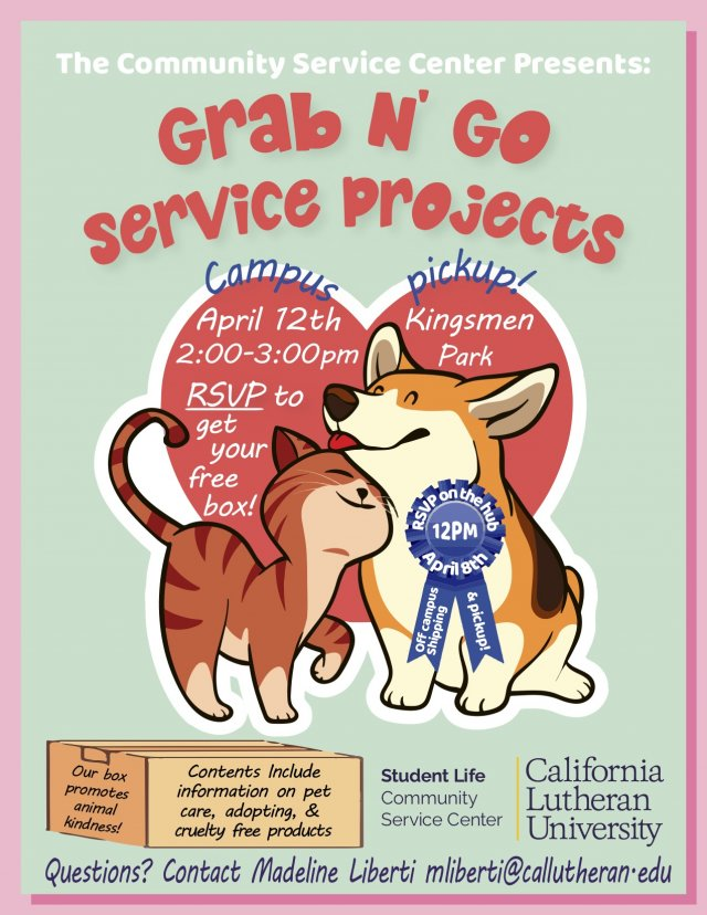 April Grab N Go Service Projects RSVP