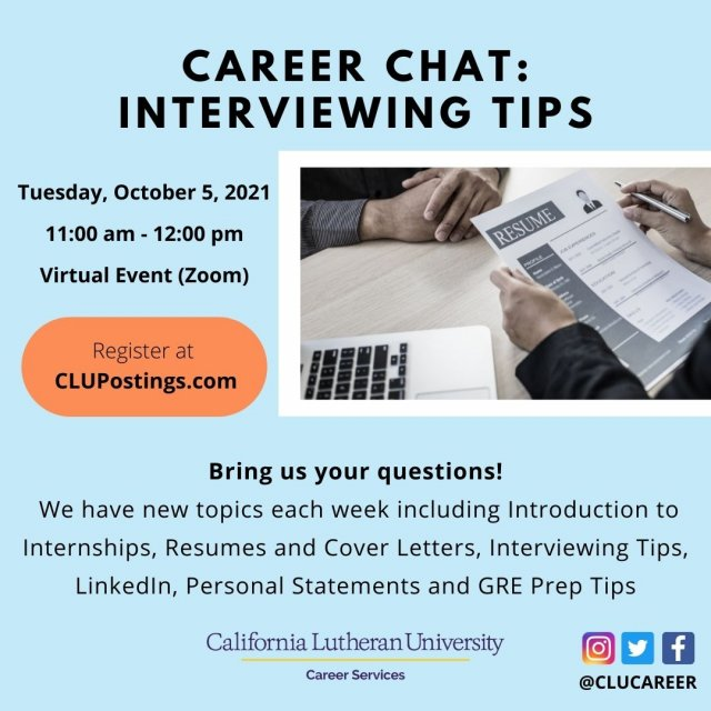 Career Chat: Interviewing Tips