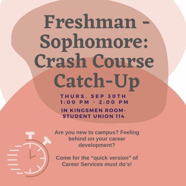 Freshman - Sophomore: Crash Course Catchup