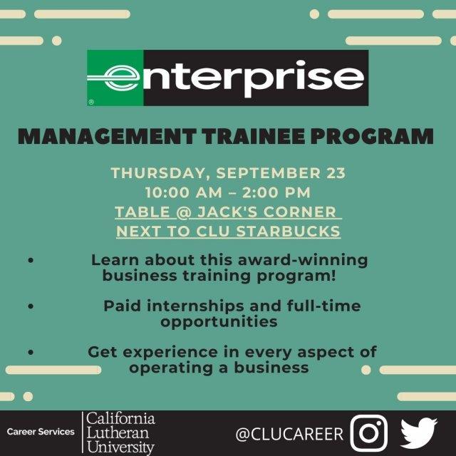 Recruiting On Campus: Enterprise Management Trainee Program