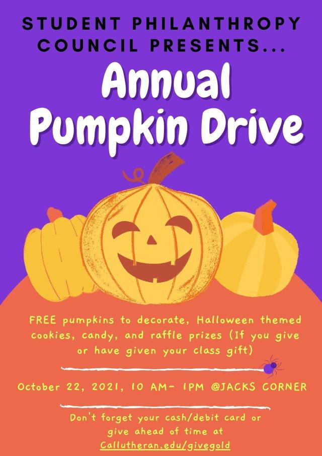 SPC's Annual Pumpkin Drive