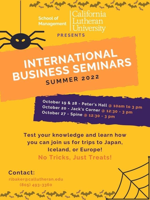 School of Management International Business Seminar Trivia